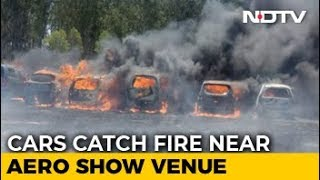 300 Vehicles On Fire Near Bengaluru Air Show, Cigarette Could Be Cause - NDTV