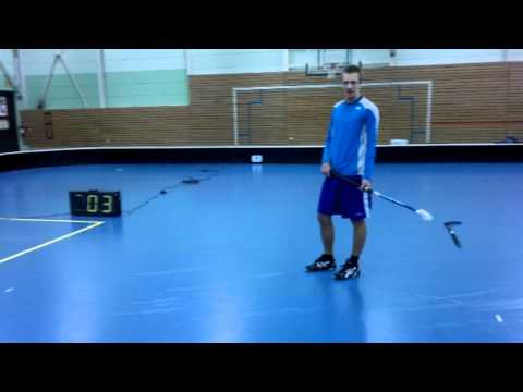 WORLD'S HARDEST FLOORBALL SHOT (205.0 km/h) - measured and filmed (HD) with Nokia N8!