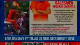 Ramdev to hire 50,000 people for patanjali; hiring to be done in various divisions - NEWSXLIVE
