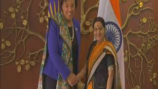 15 Dec, 2017 - Commonwealth chief meets Indian foreign minister in New Delhi - ANIINDIAFILE
