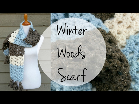 How To Crochet the Winter Woods Scarf, Episode 378