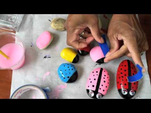 Create Lady Bug Rocks