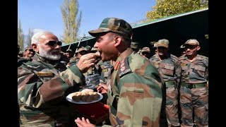 In Graphics: In Pictures: PM Modi Celebrates Diwali With Soldiers In Jammu and Kashmir's G - ABPNEWSTV