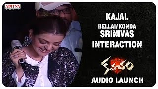 Kajal, Bellamkonda Srinivas Interaction With The Audience @ Kavacham Audio Launch - ADITYAMUSIC