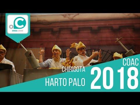 La agrupación Harto palo llega al COAC 2018 en la modalidad de Chirigotas. Primera actuación de la agrupación para esta modalidad.