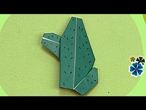 Çocuklar İçin Origami Cactus (Öğretici) – Kağıttan Arkadaşlar 30