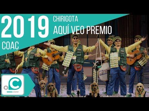 La agrupación Aquí veo premio llega al COAC 2019 en la modalidad de Chirigotas. En años anteriores (2018) concursaron en el Teatro Falla como Los sensiblones, consiguiendo una clasificación en el concurso de Preliminares.