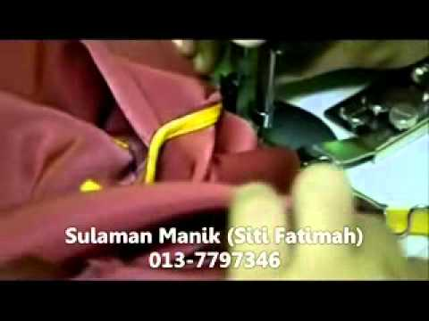 Sulaman Manik - Gadjet Tapak Piping (Jahit  Piping Leher Part 2).flv