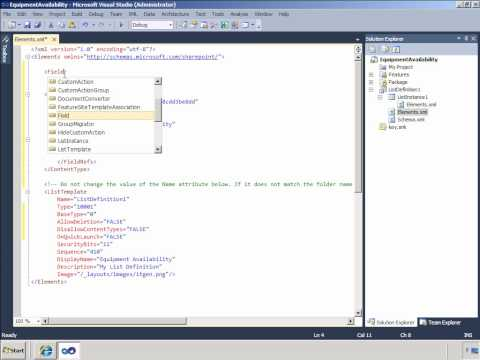 SharePoint: Creating SharePoint 2010 List Definitions in Visual Studio 2010