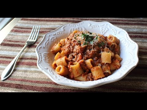 foodwishes - Bolognese Sauce - Marcella Hazan-Inspired Meat Sauce Recipe - Rigatoni Bolognese - Learn how to make a Bolognese Sauce recipe! Go to http://foodwishes.blogspot.com/2013/10/bolognese-sauce-hip-hip-hazan.html for the ingredient amounts, extra information, and many, many more video recipes! I hope you enjoy this easy Marcella Hazan-Inspired Meat Sauce Recipe!