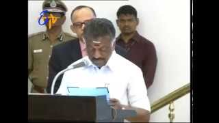Jayalalitha's Close Aide Panner Selvam Sworn In As CM Of Tamilnadu - ETV2INDIA