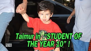 "Taimur in ""STUDENT OF THE YEAR 10"" ! - IANSLIVE"