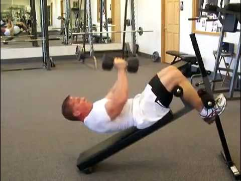 Abdominal Exercises: Dumbbell Push & ...