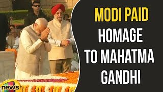 PM Narendra Modi Paid Homage To Mahatma Gandhi At Rajghat On149th Birth Anniversary | Mango News - MANGONEWS