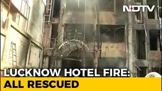 In Lucknow, 5 People Injured In A Major Fire At A Popular Hotel - NDTV