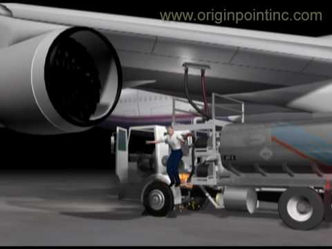 Computer Animation Boeing 747 Fire fueling accident. Origin Point, Inc.