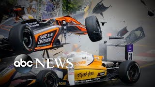 Exclusive interview with the race car driver who survived a horrific crash - ABCNEWS