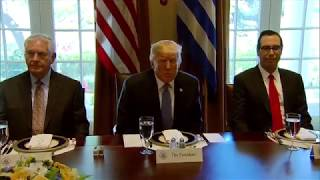 Trump hosts working lunch with Greek prime minister - WASHINGTONPOST