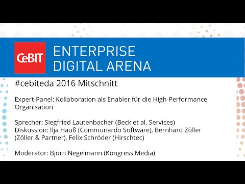 "#cebiteda16: Expert-Panel ""Kollaboration als Enabler für die High-Performance Organisation"""