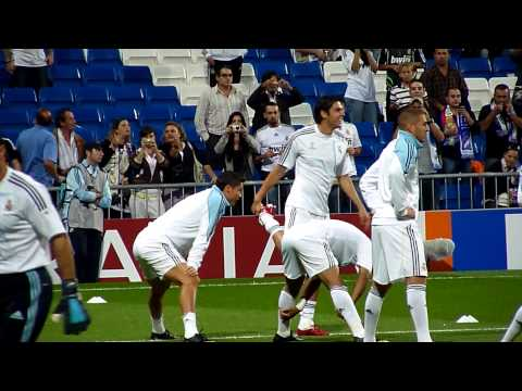 Ronaldo Kaka Marcelo during warm up before a match