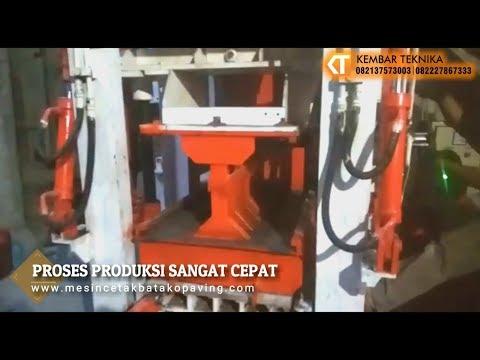 Penggunaan Mesin Cetak Batako Otomatis Di Lokasi Pelanggan