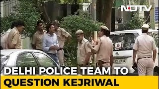 Delhi Police At Arvind Kejriwal Home Again, This Time To Question Him - NDTV