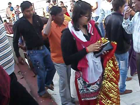 Neha busy in Shooting on Maihar's Maa Sharda  Devi Temple