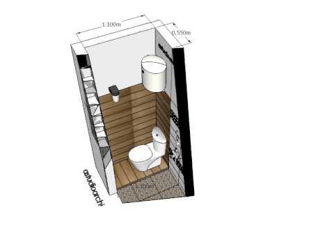desain kamar mandi kecil 1.25m x 1.1m