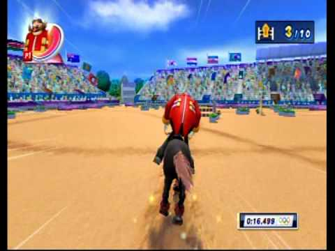 Mario &amp; Sonic at the London 2012 Olympic Games (Nintendo Wii) - All Events; Part 5: Equestrian