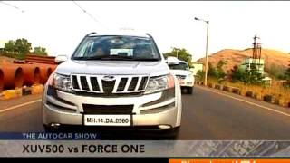 2012 Mahindra XUV500 Vs Force One | Comparison Test - Force Videos