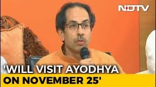 Will Visit Ayodhya, Ask PM Why Ram Temple Not Built Yet: Uddhav Thackeray - NDTV