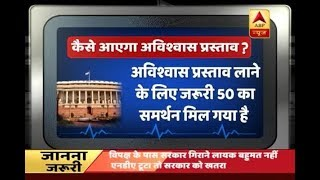 How will no-confidence motion be pushed? - ABPNEWSTV