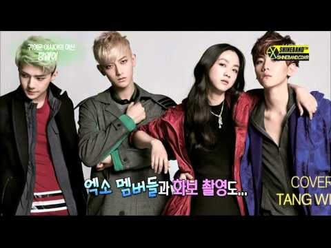 Tang Wei meets K-Pop Group EXO