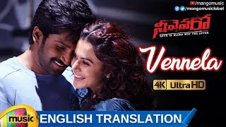 Vennela Video Song with English Translation 4K | Neevevaro Movie Songs | Aadhi Pinisetty | Taapsee - MANGOMUSIC