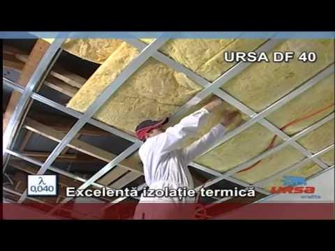 Montaj tavane cu vata minerala Ursa DF 40 Depozit-Online.ro
