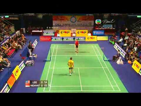 Yonex Sunrise Hong Kong Open Super Series 2010 MS Final Lee Chong Wei vs Taufik Hidayat 2/4