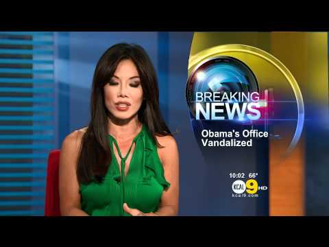 Sharon Tay 2011/09/22 10PM KCAL9 HD; Green dress