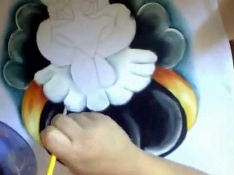 Pintura em tecido Galinha pintadinha.