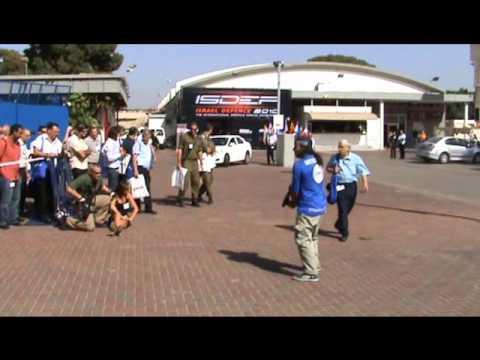 Bodyguards live demonstration ISDEF 2010 Israel Israeli Defence Exhibition