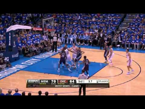 NBA CIRCLE - Memphis Grizzlies Vs Oklahoma City Thunder Game 1 Highlights - 5 May 2013 NBA Playoffs