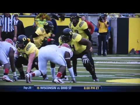 De'Anthony Thomas 45 yard reception for TD vs WSU 10/29/2011