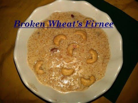 How to Cook Broken wheat's Firnee - Urdu Recipe...