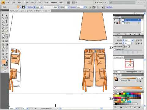 Exploring problems of &quot;joining&quot; / Fashion Flat Sketching in Adobe Illustrator for Fashion Design