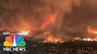 Deadly Fire Tornado Caught On Camera | NBC News - NBCNEWS