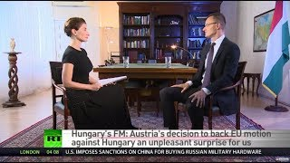 Hungary's FM: We are anti-migration government, whether Brussels likes it or not - RUSSIATODAY