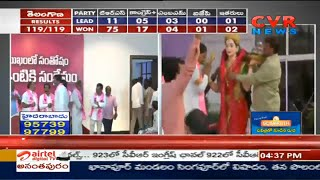 KCR Reached in Telangana Bhavan | Telangana Election Results | CVR Newws - CVRNEWSOFFICIAL