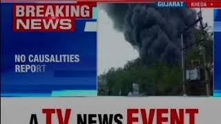 Gujarat: Huge Fire takes place in scrap godown in Kheda district, 7 fire tenders reaches on spot - NEWSXLIVE