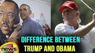 The difference between Trump and Obama in Pictures On Martin Luther King day | Mango News - MANGONEWS