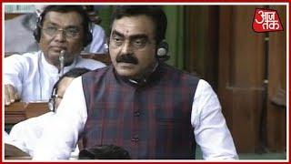 No-Confidence Motion | Congress Divided Nation For Vote Bank Politics: BJP MP Rakesh Singh - AAJTAKTV