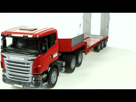 Scania R Series Low loader Truck with CAT Bulldozer) – Muffin Songs' Oyuncakları Tanıyalım